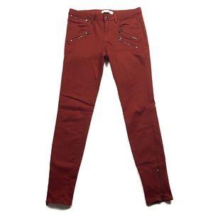 Zara Stretchy Zipper Moto Pants